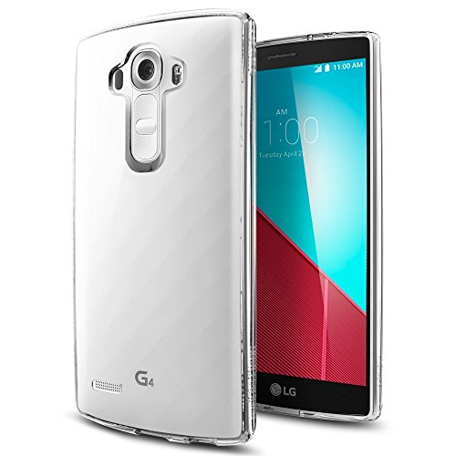 REY Funda Carcasa Gel Transparente para LG G4, Ultra Fina 0,33mm, Silicona TPU de Alta Resistencia y Flexibilidad