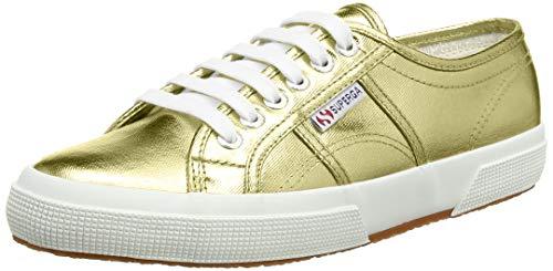 Superga 2750 Cotmetu S002HG0 Damen Sneaker, Gold (174), 44 EU / 9.5 UK