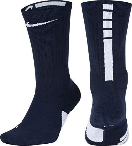 NIKE Elite Basketball Crew Socks (Midnight Navy/White, X-Large)