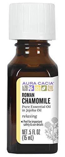 AURA CACIA - 100% Pure Essential Oil Roman Chamomile (in Jojoba Oil) - 0.5 fl. oz. (15 ml)