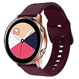 Syxinn Compatible con Galaxy Watch Active/Active2 40mm 44mm Correa de Reloj 20mm Silicona Banda Pulsera para Galaxy Watch 42mm/Gear Sport/Gear S2 Classic/Ticwatch 2
