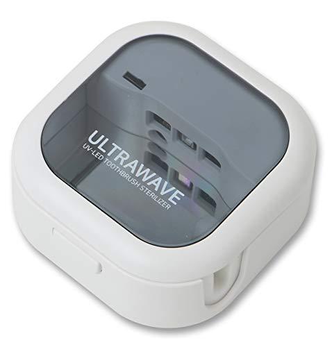 MEDIK歯ブラシ除菌キャップ充電式紫外線除菌持ち運びUSB充電軽量ホワイトMDK-TS03(WH)