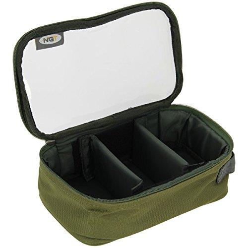NGT 3 Way 'Clear Top' Deluxe Leine Tasche, grün, Einheitsgröße
