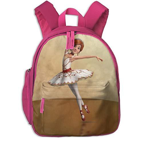 ADGBag Mochila para niños Cute Animal Cartoon Ballerina Leap Pocket Backpacks Backpack Schoolbag For Childrens Kids Children Boys Girls