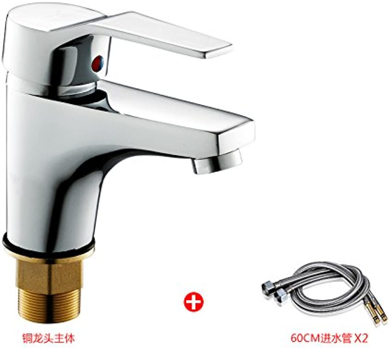 Von YIRUI basin Taps Basin faucet basin hot and cold faucet wash basin art basin faucet single hole heightening copper faucet,All copper faucet inlet pipe