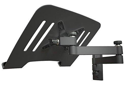 DRALL INSTRUMENTS Laptop Wandhalterung Halterung (TÜV SÜD-geprüft) schwarz mit Notebook Adapterplatte Ablage schwarz Modell: L52B-IP3B