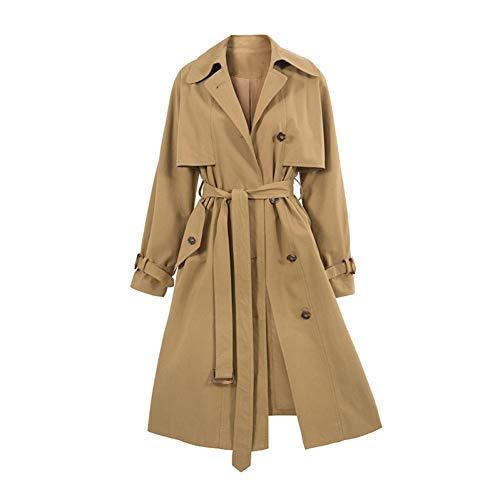 DAIDAILYQ Khaki Windbreaker Female Casual Langer Trenchcoat Damen Overknee Mäntel Chic Autumn Loose Outwear with Belt