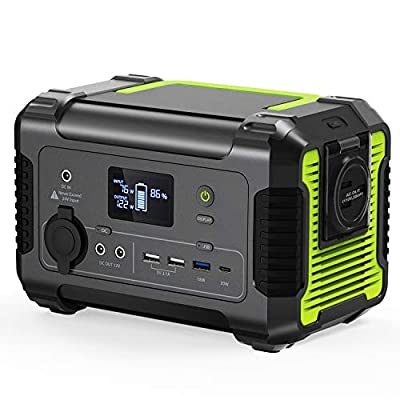 [2020 New Updated] Portable Power Station 200, 230Wh/62400mAh Camping Solar Generator Emergency Backup Battery, 110V/ 200W (300W Peak) AC Outlet, QC 3.0 USB,Type-C PD Port, 12V DC for Outdoor Camping