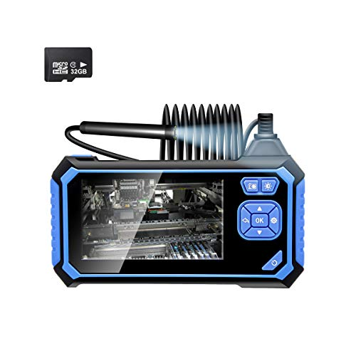 Veroyi Inspection Camera, 1080P HD Digital Borescope Camera 4.3 Inch LCD Screen Industrial Endoscope Waterproof Snake Camera with 32GB Micro SD Card, 6 LED Lights(16.5FT)