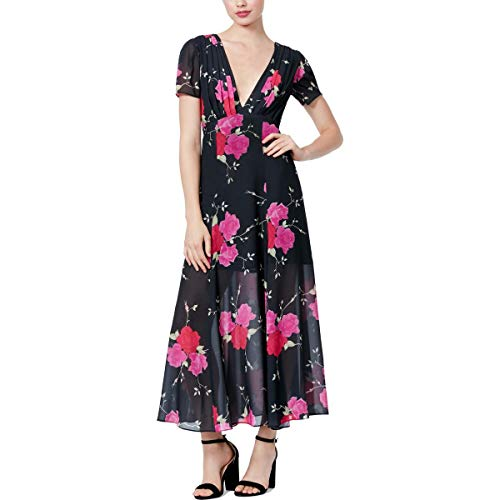 BETSEY JOHNSON WOMEN `S VINTAGE FLORAL PRINT MAXI DRESS