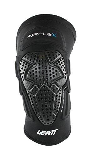Leatt La Airflex est Une genouillère Ultra-Fine et très protectrice avec des Protections supplémentaires. Elle est entièremet adaptée à la Pratique du VTT. Genoullières Mixte Adulte, Noir, XXL