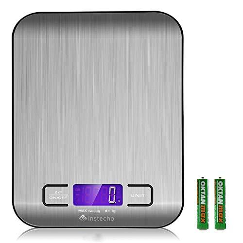 Etekcity Digital Kitchen Food Scale, 0.01oz Resolution, Calibration Supported,15lb/7kg (Silver)