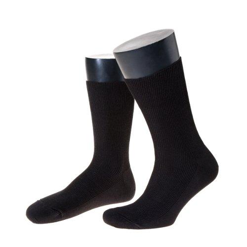 NORDPOL Herrensocke aus 100prozent Schurwolle, kurz, 3 Paar, schwarz, Made in Germany, Gr. 42-44