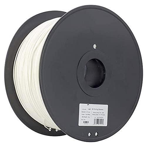 PC MAX FILAMENTO 1.75 mm, filamento de impresora 3D, carrete de 3kg, 110 ℃ resistente al calor, más duro y más fuerte que la PC regular-blanco