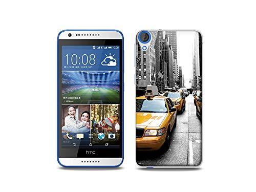 etuo Handyhülle für HTC Desire 820 - Hülle, Silikon, Gummi Schutzhülle - Taxi in New York