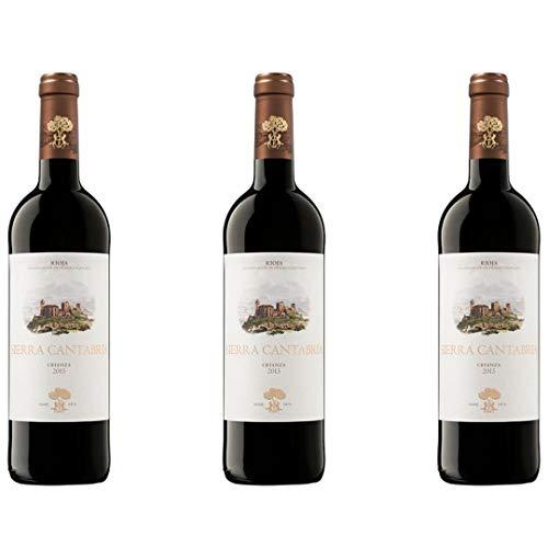 Sierra Cantabria Vino Tinto Crianza - 3 botellas x 750ml - total: 2250 ml
