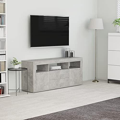 FAMIROSA Mueble para TV aglomerado Gris hormigón 120x30x50cm