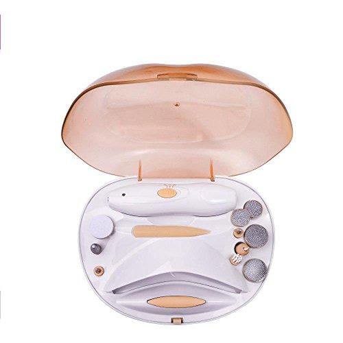Y-XM Erwachsenen Beruf Elektrische Maniküre Schleifer Set Pediküre Nagelfeile Polieren Disc mit Einem austauschbaren Köpfen Nagel Trockner