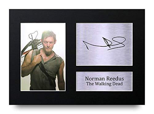 HWC Trading Norman Reedus A4 Ungerahmt Signiert Gedruckt Autogramme Bild Druck-Fotoanzeige Geschenk Für The Walking Dead Tv-Show-Fans