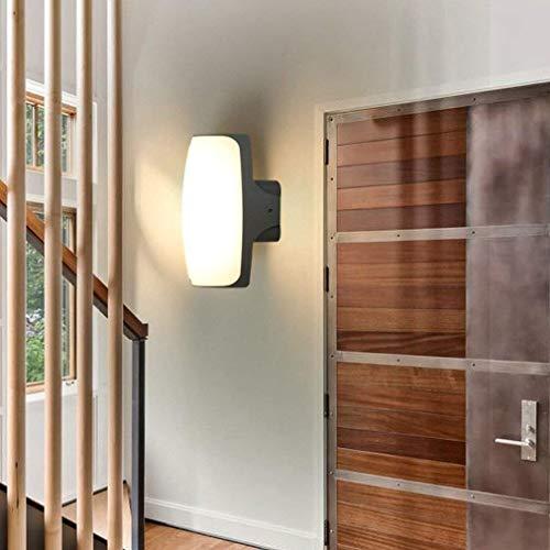 Lámpara de pared Lámpara de pared LED de 12 W, iluminación de pared creativa moderna, lámpara de pared de pasillo, iluminación decorativa de aluminio para exteriores, iluminación interior W13cm * H22.