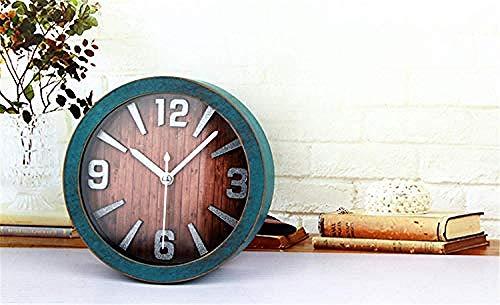 teapotmll Mechanische & Wind-Up Klokken Mechanische en wind tot klok Desktop wekker Grote Mute Ringtones Creatieve Alarm Klok Kids Slaapkamer Nacht Eenvoudige Minimalistische Alarm Klok B / 12 * 12Cm