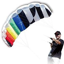 powerful Hengda Kite 1.4 M Intro Foil Design Rainbow Kites Soft Stunt Sport Parafoil Kite 55 inches with…