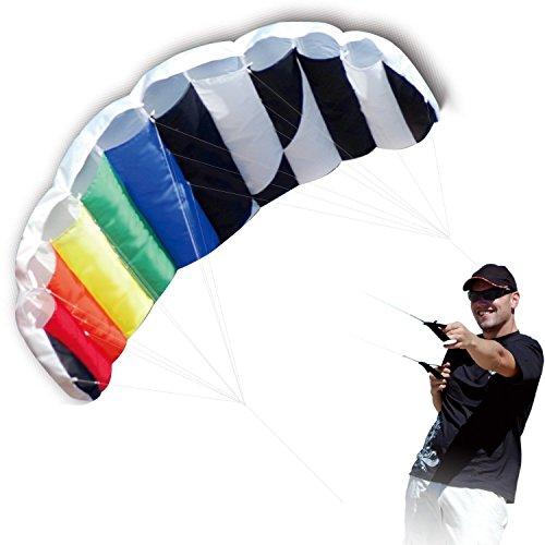 powerful Hengda Kite 1.4 M Intro Foil Design Rainbow Kites Soft Stunt Sport Parafoil Kite 55 inches with…