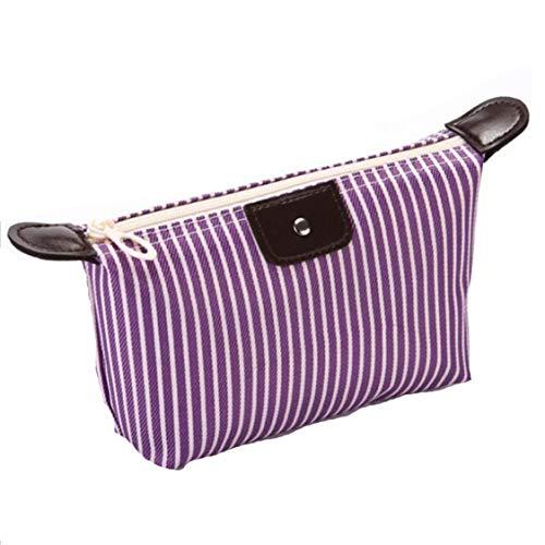 Idiytip Multifonctionnel Dumplings Cosmetic Bag Portable Voyage Sacs Wash Gargar Bag Sac De Maquillage pour Les Femmes, Pourpre