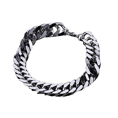 #N/V Y129 Pulsera masculina exquisita cadena de niño universal de acero inoxidable para hombre