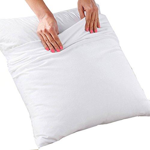 MCTISSUS Protège taie d'oreiller Blanc Elise 60 cm x 60 cm Coton