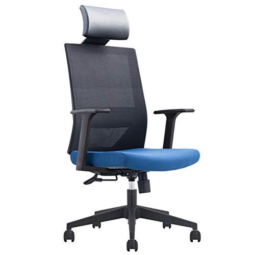 Oficina Gaming Silla Gamers Sillón Asiento ergonómico Apoyabrazos Ajustable Marco de Acero Ángulo de inclinación Ajustable 90 ° -125 °,Azul,A