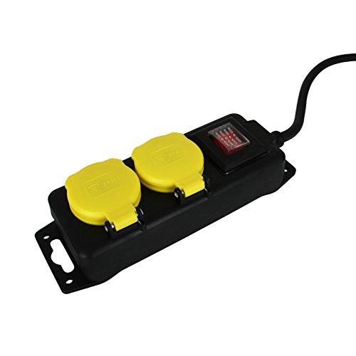 Steckdosenleiste Outdoor mit Größenauswahl - Mehrfachsteckdose - Verteilersteckdose (2er)