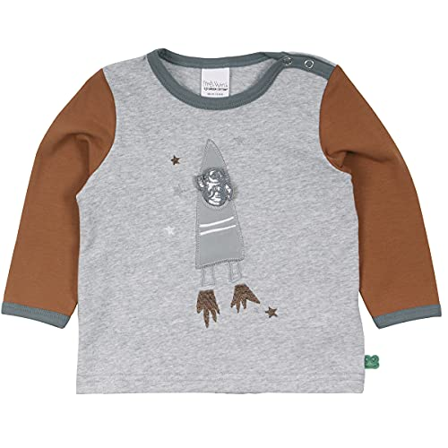 Fred's World by Green Cotton Baby-Boys Astronaut T-Shirt, Pale Greymarl, 98