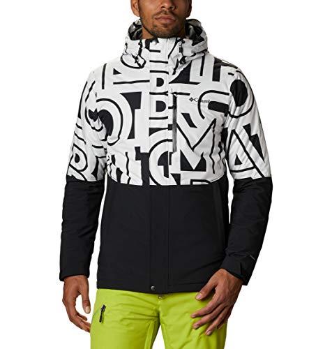 Columbia Men's Winter District Jacket, Black/White Typo, XLT