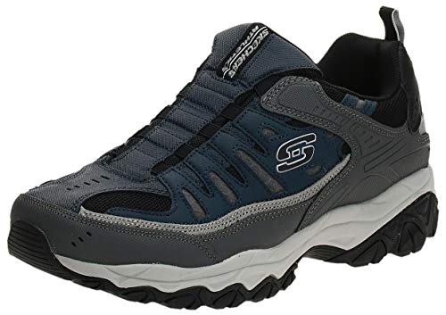Skechers Sport Men's Afterburn M. Fit Wonted Loafer,navy/gray,7.5 M US