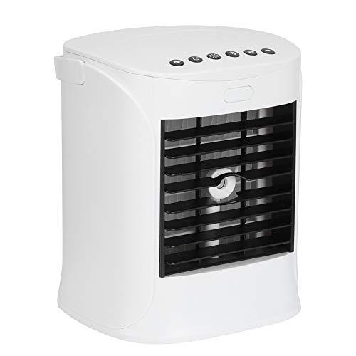 logozoee Enfriador de Aire, Ventilador portátil de Escritorio con luz Nocturna de bajo Ruido USB, para Dormitorio de Oficina con Ventilador pulverizador de Altavoz Incorporado