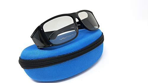 Hi-Shock Gafas 3D pasivas para TV 4K 3D de LG Philips, Grundig, León, Sony, Panasonic, Toshiba, Compatible con AG-F420, PTA417, TY-EP3D20E, PX1821E-1TVA, Incluye Funda [Polarisations-3D-Technolog