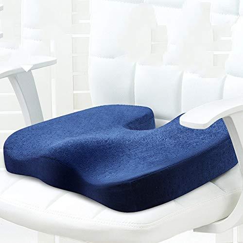 OLI zitkussen memory foam bescherming zitkussen mooie hip - kussen - bank thuis 44X34cm donkerblauw
