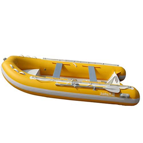 SHZJ Kayak Gonfiabile Per 6 Persone Con Fondo In Lega Di Alluminio Resistente All'Usura, Robusto, Yellow