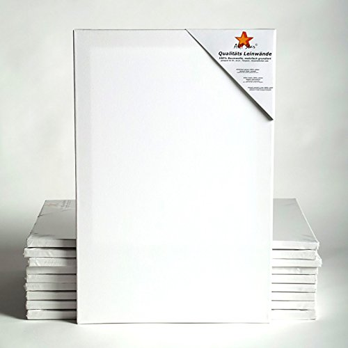 BK BILDERRAHMEN KOLMER 10 TELA ART-STAR TASCA ~20x28, 50x70 cm   100% cotone, pronto da verniciare, per principianti