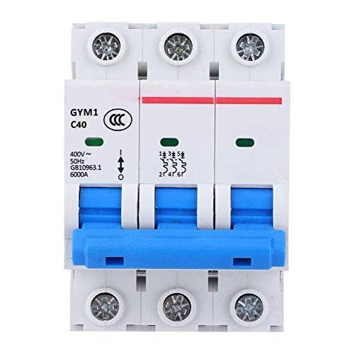 Disyuntor del hogar Disyuntor en miniatura Disyuntor 3P 400VAC IP20 Interruptor de aire GYM1-DZ47S Accesorios de protección para protección contra sobrecarga y cortocircuito (40A) -16A-40A