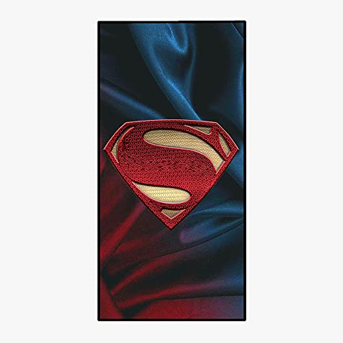 Amacigana Toalla de playa Marvel, de secado rápido y compacta, tacto súper suave, 100% poliéster, perfecto para el hogar, playa y piscina (Superman, 85 x 180 cm)
