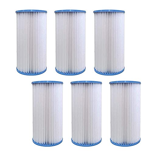 Volca Spares Type A or C Replacement Filter Cartridge Compatible with INTEX Pools, 6 Pack 29000e/59900e