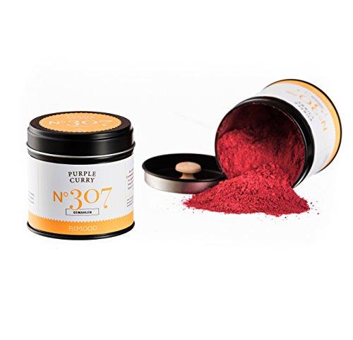 Bio Purple Curry N°307 - super fruchtig & intensiv, mit echten Hibiskusblüten in eleganter Gewürzdose mit doppeltem Aromadeckel, Inhalt: 70g