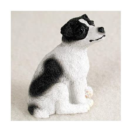 Jack Russell Terrier Figurine Hand Painted Collectible Statue Brown//Wht Smooth