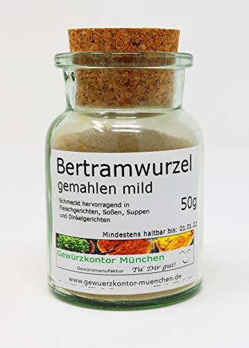 Bertramwurzel gemahlen mild 50g im Glas Gewürzkontor München