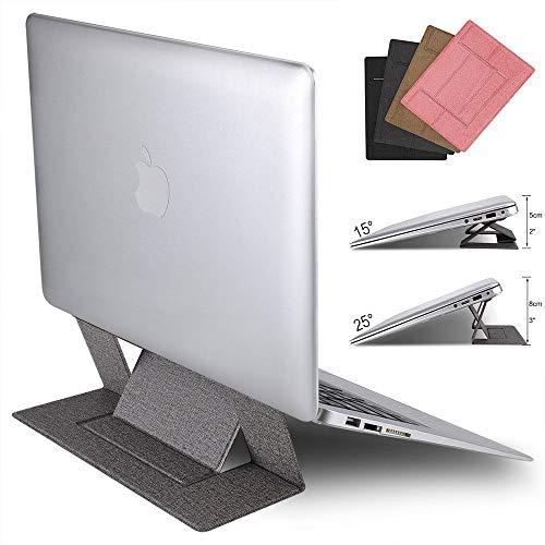 DAETNG Invisible Portable Folding Computer Stand, Leichte Tablets, iPad und Laptops, Einstellbarer 2-Winkel-Anti-Rutsch-Ständer für alle 11,6 bis 15,6-Zoll-Notebooks,Grey