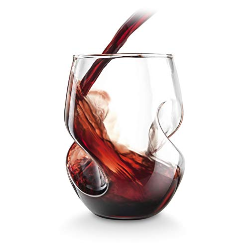 Final Touch Conundrum Verres à vin rouge - 473ml verre soufflé à la main - Lot de 4 …