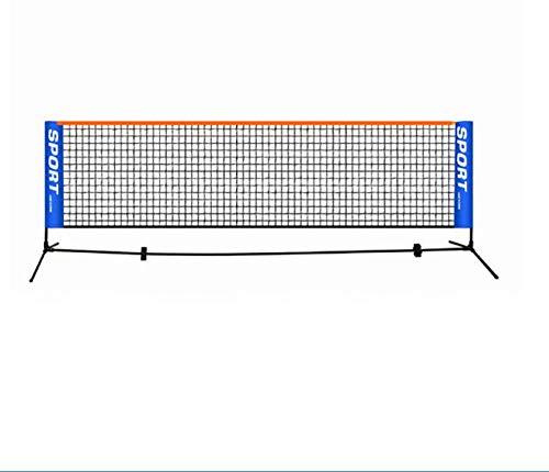 GYKLY Tragbares 3-6m Tennisnetz Standard Tennisnetz Wettkampf Trainingsnetz Rahmenloses Tennisschläger Sportnetz Badminton-5.1Meter