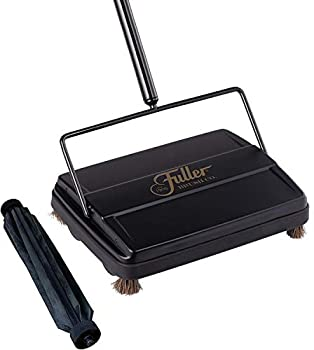 Fuller Brush Electrostatic Carpet & Floor Sweeper with Additional Rubber Rotor - 9  Cleaning Path - Lightweight - Ideal for Crumby & Wet Messes - Works On Carpets & Hard Floor Surfaces  Black